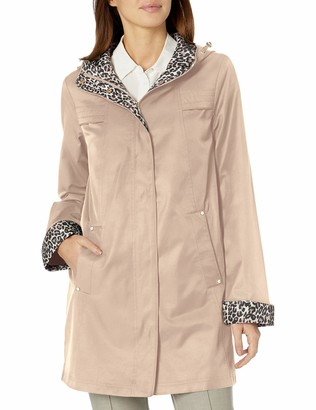 Jones New York Women's Hooded Mid-Weight Coat Rain Jacket