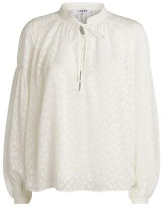 Frame Long-Sleeved Peasant Top