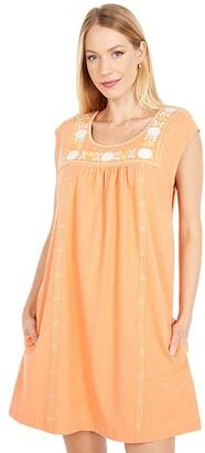 Faherty Luana Dress (Rhythm Orange) Women's Clothing