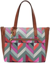 Fossil Fiona Chevron East/West Tote