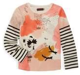 Catimini Toddler's, Little Girl's & Girl's Printed Stripe Long Sleeve Tee