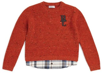 BRUNELLO CUCINELLI KIDS Monogram Sweater (12 Years)