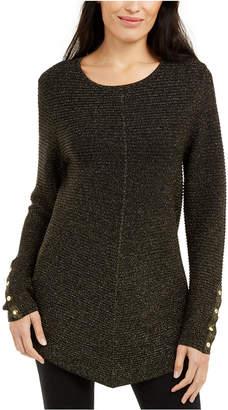 Alfani Petite Metallic Swing Sweater