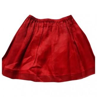 Miu Miu Red Cotton Skirt for Women