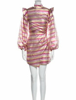 Thumbnail for your product : Paper London Striped Mini Dress w/ Tags Pink Striped Mini Dress w/ Tags