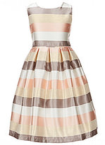 Jayne Copeland Little Girls 2T-6X Metallic Stripe Taffeta Dress