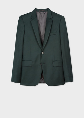 Paul Smith The Soho - Tailored-Fit Dark Green Overdyed Wool-Cashmere Blazer