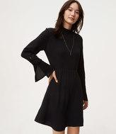 LOFT Button Trim Bell Sleeve Dress