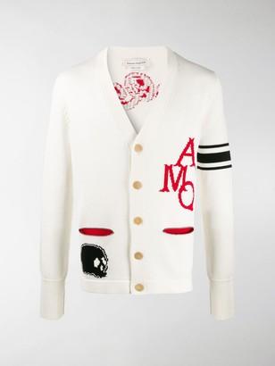 Alexander McQueen intarsia-knit V-neck cardigan