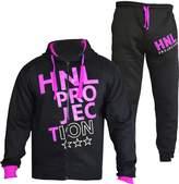 a2z4kids Kids Girls Boys Tracksuit HNL PROJECTION Print Hoodie & Bottom Jog Suit 7-13 Yr