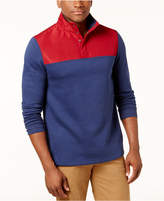 Club Room Men's Colorblocked Water Repellent Fleece Pullover, Created for Macy's