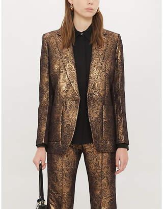Sandro Metallic woven jacquard blazer