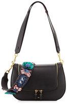 Anya Hindmarch Vere Space Invader; Floral Satchel Bag, Black
