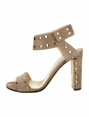 Jimmy Choo Suede Studded Accents Sandals