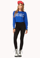 Forever 21 Sporty Cropped Sweatshirt