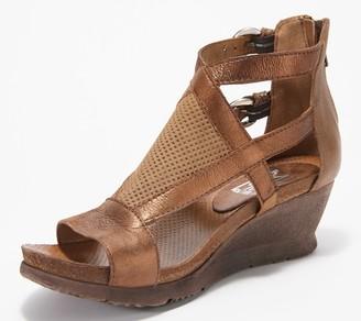 Miz Mooz Leather Cut-Out Embellished Demi-Wedges Sawyer