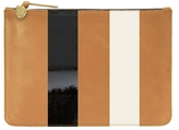 Clare Vivier Margot Supreme Stripe Flat Clutch