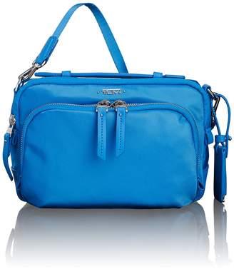 Tumi Luanda Flight Leather Trimmed Nylon Crossbody Bag