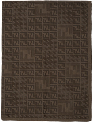 Fendi Brown Faded Forever Scarf