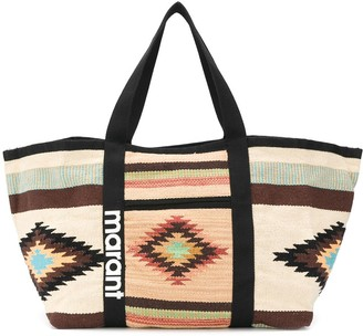 Isabel Marant Large Embroidered Tote Bag