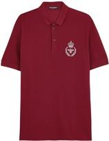 Dolce & Gabbana Red Piqué Cotton Polo Shirt