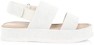 Via Spiga Gabourey2 Textured Leather Slingback Platform Sandals