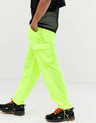 Jaded London cargo trousers in neon yellow
