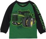 John Deere 4-7x Tractor Graphic Raglan Tee