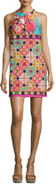 Trina Turk Vacaciones Sleeveless Tile Mini Dress, Multicolor