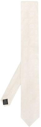 Dolce & Gabbana Geometric Embroidery Silk Tie