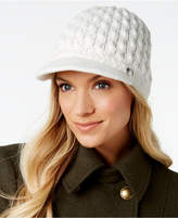 Calvin Klein Honeycomb Cable-Knit Cabbie Hat