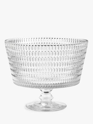 John Lewis & Partners Decorative Glass Dessert Comport, 20cm, Clear