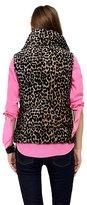 Juicy Couture Velveteen Leopard Puffer Vest