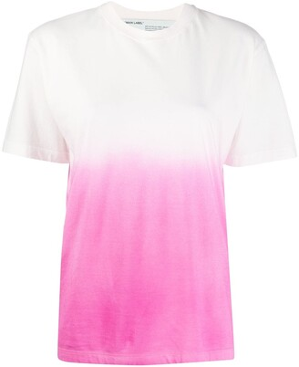 Off-White gradient effect short-sleeved T-shirt