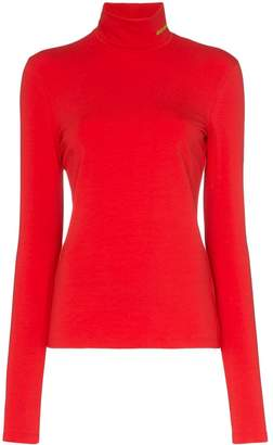 Calvin Klein high neck fitted jersey top