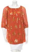 Rachel Zoe Paisley Print Off-Shoulder Mini Dress