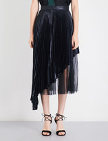 Christopher Kane Pleated metallic midi skirt