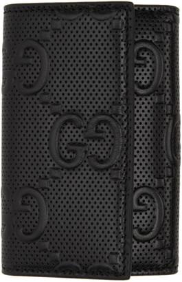 Gucci Black Signature Key Wallet