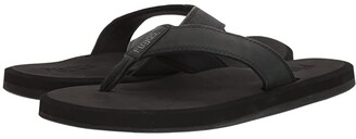 Flojos Cole 2.0 (Black) Men's Toe Open Shoes