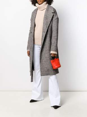 Dondup houndstooth print coat