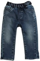 Armani Junior Cotton Jeans W/ Elastic Waistband