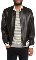 Slate & Stone Men's Leather Bomber Jacket