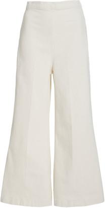Rachel Comey Absolute High-Rise Wide-Leg Cotton-Blend Pants