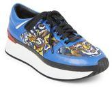 Kenzo Twill Flying Tiger Platform Sneakers