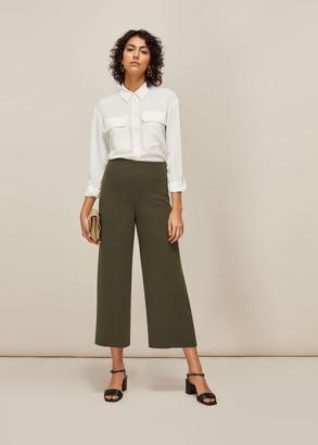 Flat Front Crop Trouser