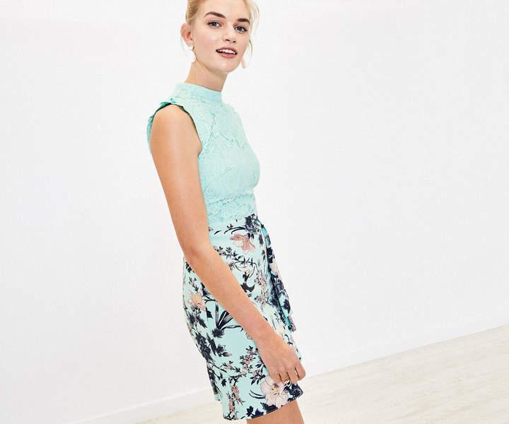 Oasis Floral Lace Skater Dress