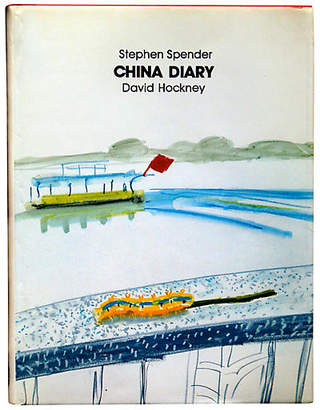 One Kings Lane Vintage China Diary by Hockney and Spender - white/multi