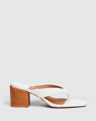 cherrichella - Women's White Open Toe Heels - Cedar Mules - Size One Size, 38 at The Iconic
