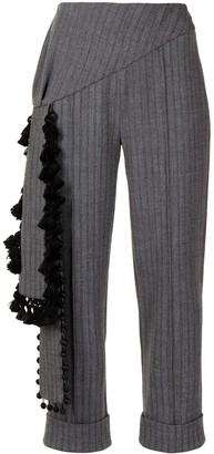 Hellessy Roman chevron-print trousers