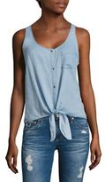 AG Jeans Cynthia Tie-Front Chambray Tank Top